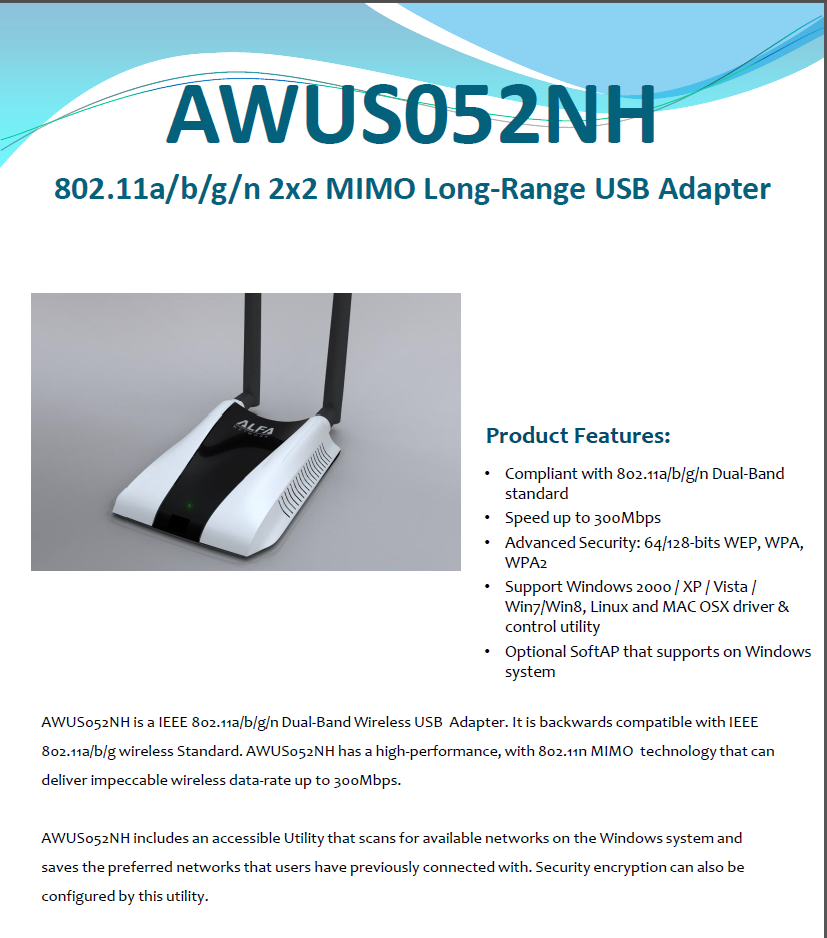 List of usb wireless adapters (monitor mode) - The 802 11n standard