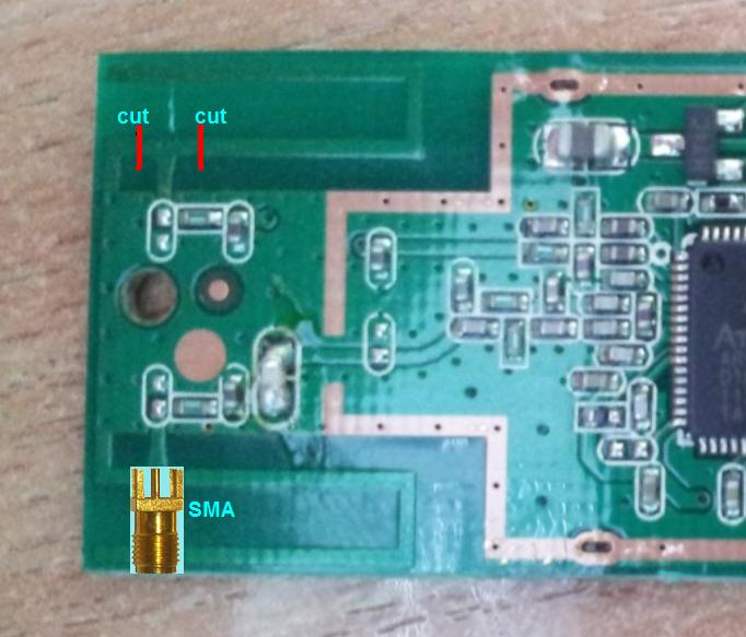 Modification TP-LINK TL-WN721N - Modification of Wi-Fi equipment